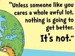 Dr Seuss wisdom about caring
